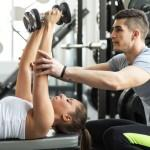 Price Online Training Services, trainer coaches dumbbell press